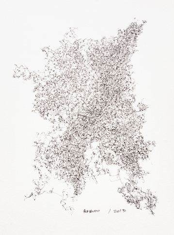"Archival paper, pigma ink 12x9"""